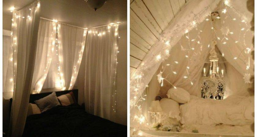 Diy Canopy Bed Lights Beds Decorate House