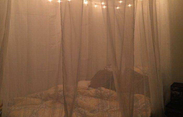 Diy Canopy Bed Lights Make Magical