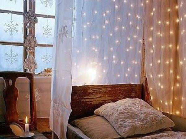 Diy Canopy Bed Lights Reference