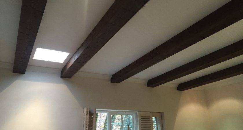 Diy Ceiling Beams Stained Installed Faux Wood Workshop