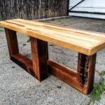 Diy Chic Pallet Entryway Bench Beefy Legs Wooden