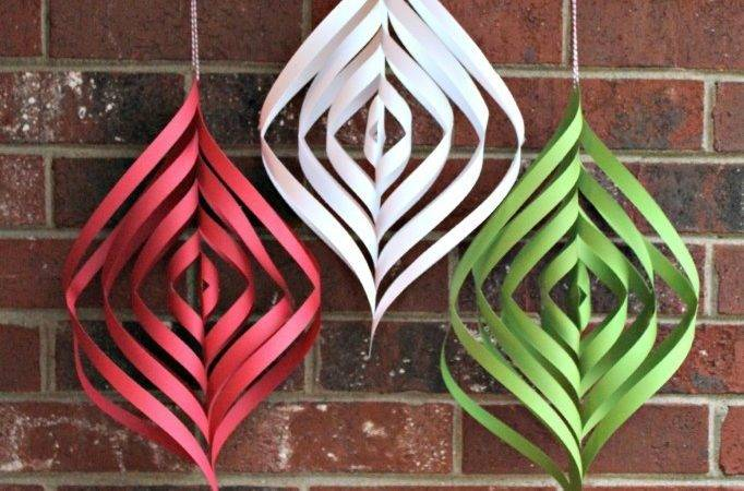 Diy Christmas Day Paper Decorations Crafts