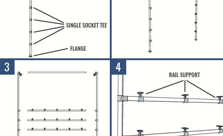 Diy Closet System Built Pipe Fittings Plans