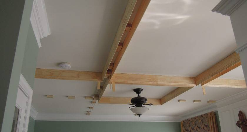 Diy Coffered Ceiling Addicted Projects