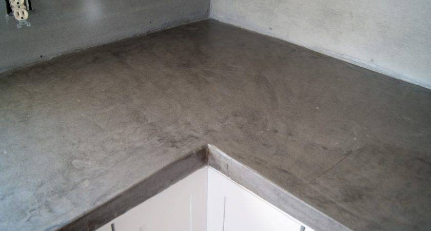 Diy Concrete Counters Poured Over Laminate Averie Lane