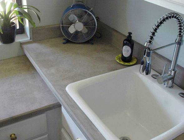 Diy Concrete Countertops Over Laminate Anything Nice