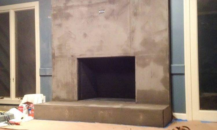 Diy Concrete Fireplace Less Than