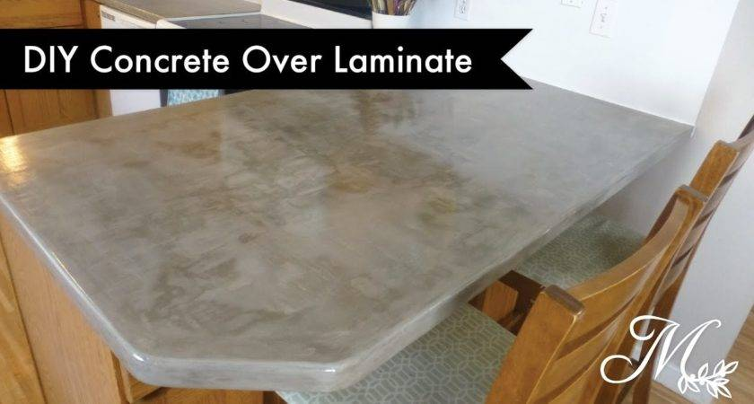 Diy Concrete Over Laminate Countertops Using Feather