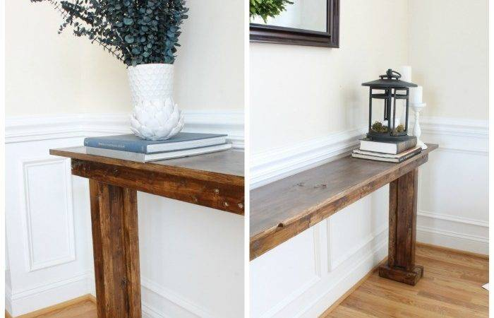 Diy Console Table Happier Homemaker