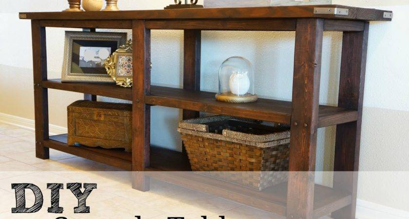 Diy Console Table Reveal