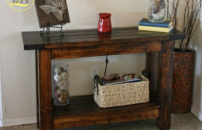 Diy Console Tables Add Eye Catching Touch