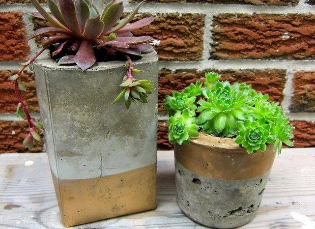 Diy Cool Concrete Planters Yourself Ideas Projects