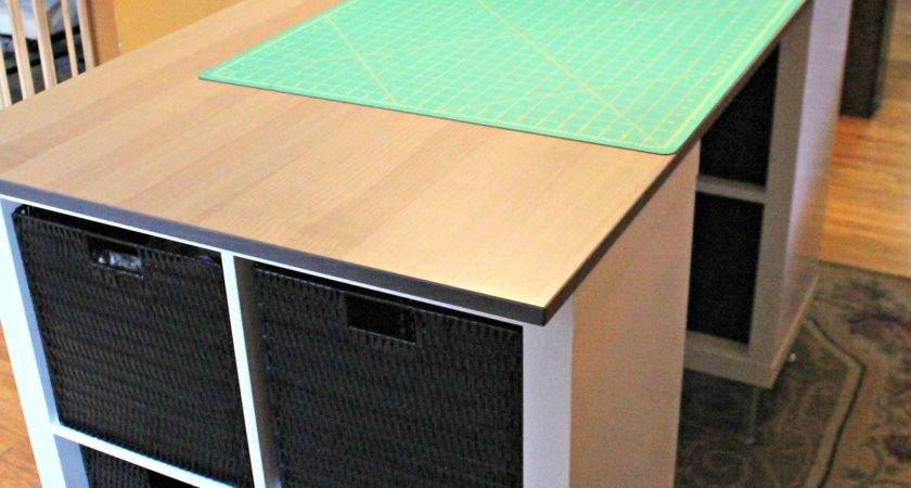 Diy Counter Height Craft Table Jennuine Life