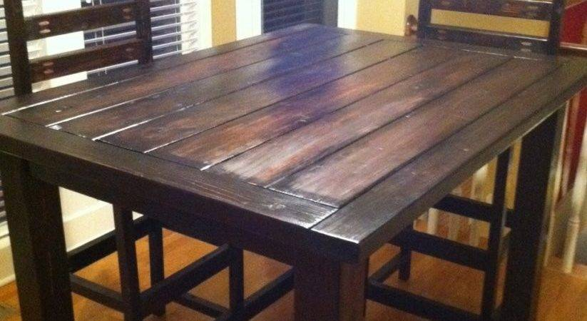 Diy Counter Height Table Rustic