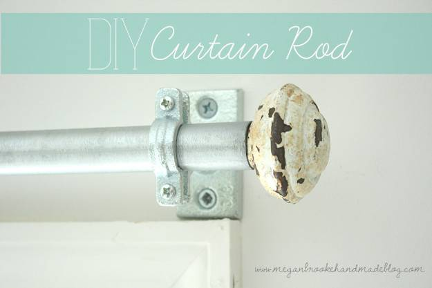 Diy Curtain Rod Make Your Own Megan Brooke Handmade