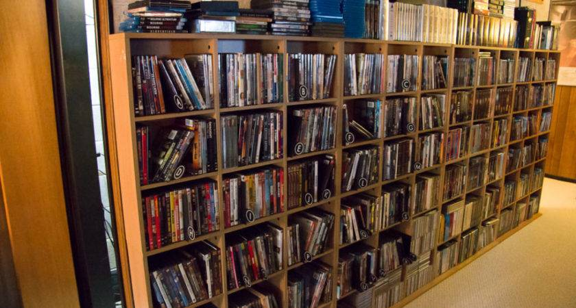 Diy Dvd Shelves Large Collection Wall Mounted