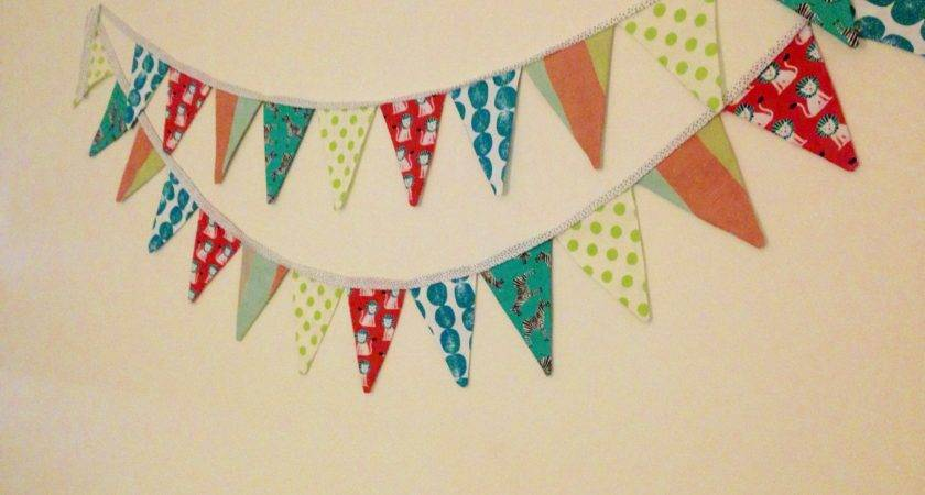 Diy Fabric Pennant Banner Handmade Homegrown Mrs