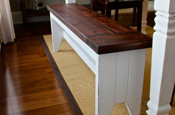 Diy Farmhouse Bench Plans Rogue Engineer
