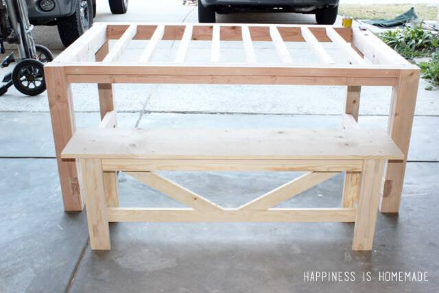 Diy Farmhouse Table Bench Happiness Homemade