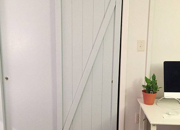 Diy Faux Barn Doors Hollow Core Door Makeover East