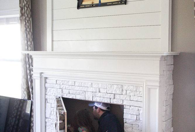 Diy Faux Fireplace Bless House