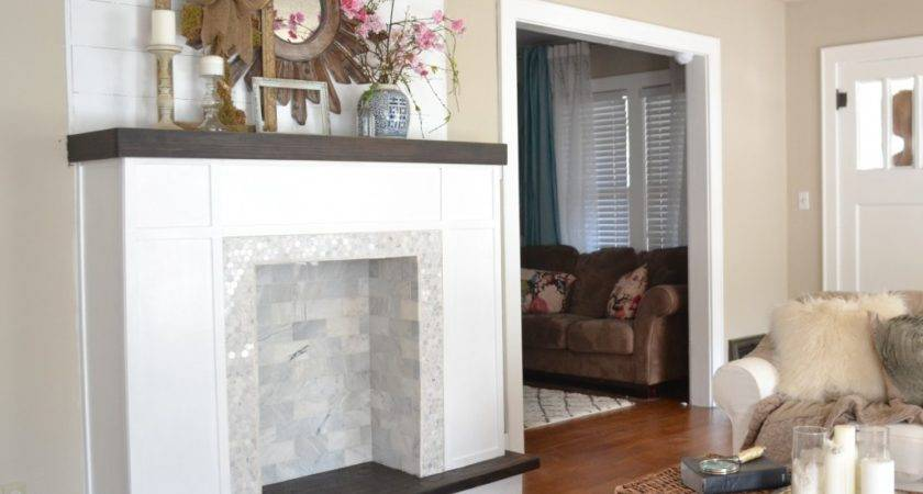 Diy Faux Fireplace Built Our Love