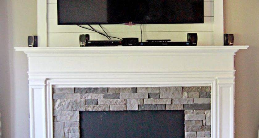 Diy Faux Fireplace Entertainment Center Part Bless