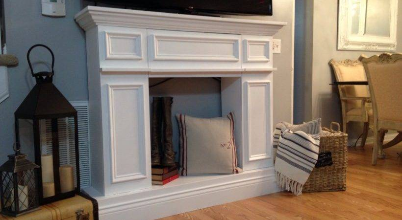Diy Faux Fireplace Ideas Time Christmas