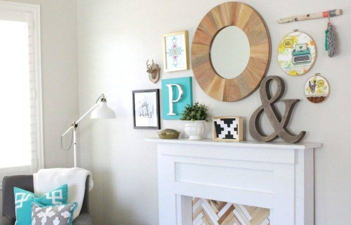 Diy Faux Fireplace Mantel Petite Party Studio