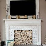 Diy Faux Fireplace Under Big Reveal Bless