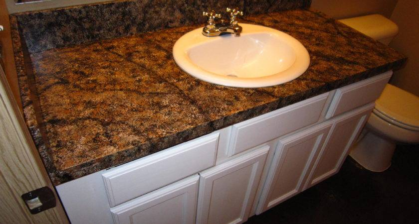 Diy Faux Granite Countertop Without Kit Under
