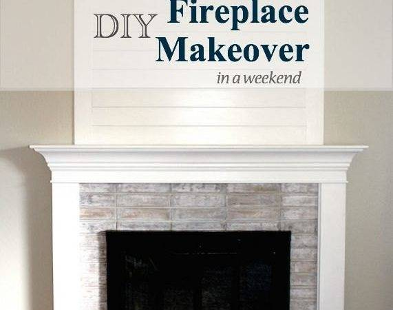 Diy Fireplace Makeover One Weekend Under