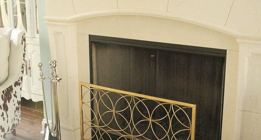 Diy Fireplace Screen Under Less Than