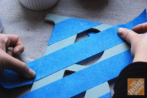 Diy Gift Ideas Decorated Wooden Letters Home Depot