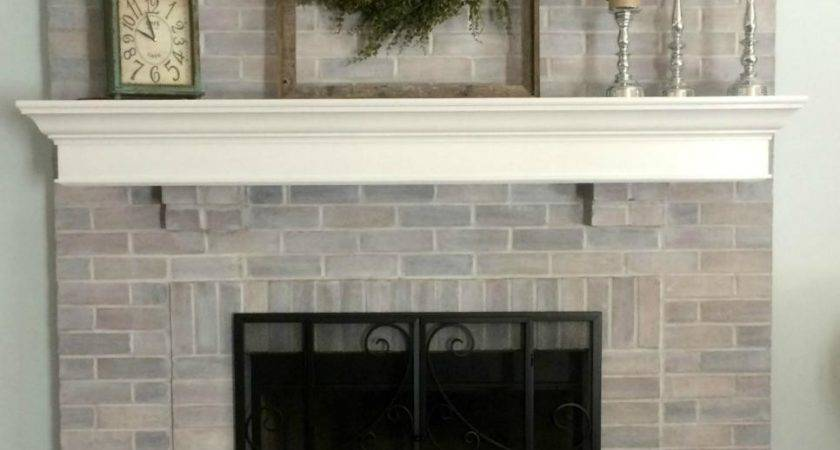 Diy Ideas Give Your Brick Fireplace Modern