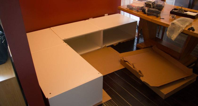 Diy Kitchen Banquette Bench Using Ikea Cabinets Hacks