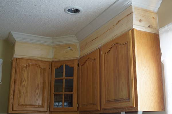Diy Kitchen Cabinet Upgrade Paint Crown Molding