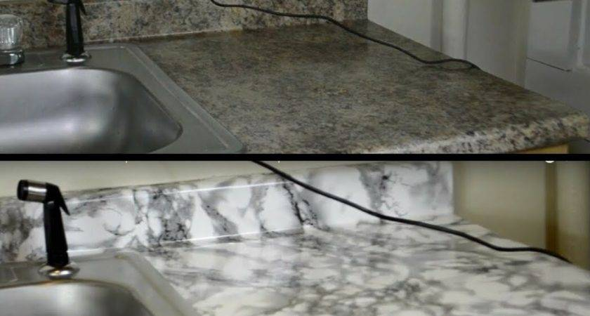 Diy Kitchen Countertop Makeover Contact Paper