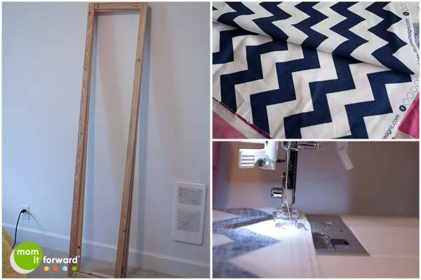 Diy Make Chevron Room Divider Dressing Screen