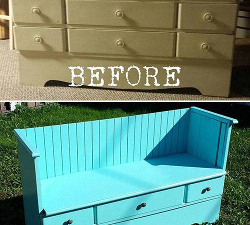 Diy Old Dresser Pretty Vintage Bench Commatose