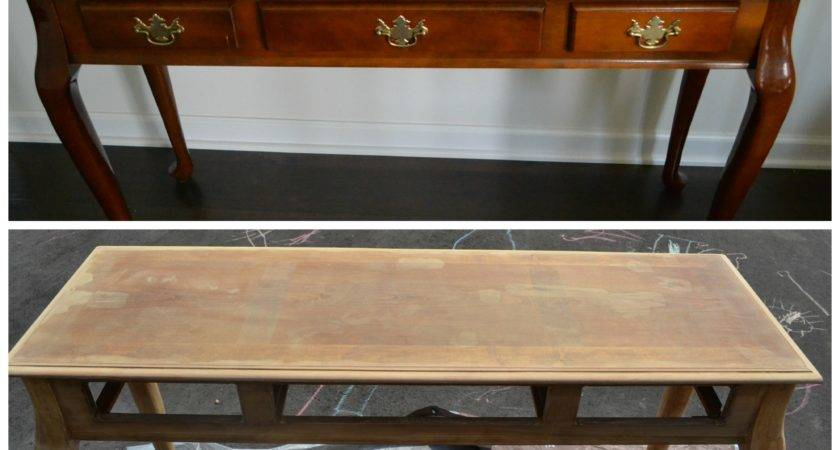 Diy Painted Console Table Strip Furniture Prep