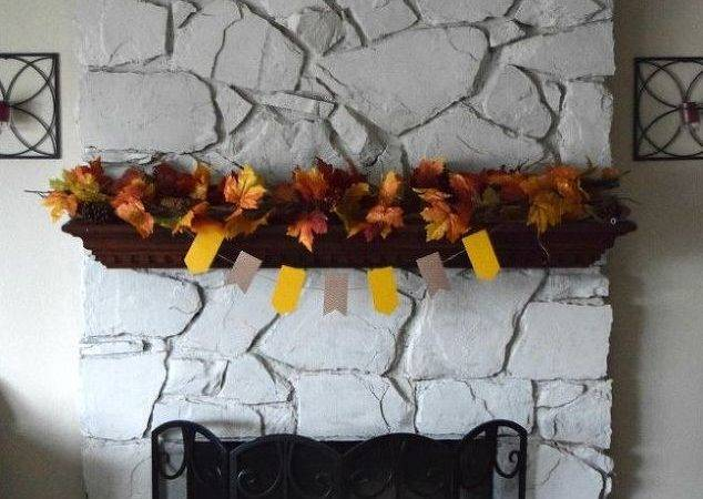 Diy Painted Stone Fireplace Hometalk