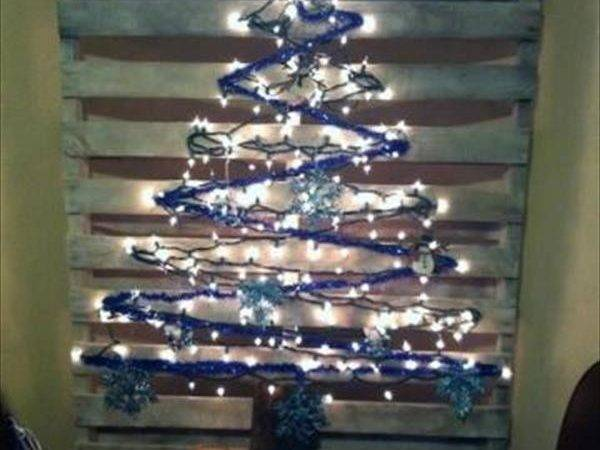 Diy Pallet Christmas Tree Lights Concepts Pallets