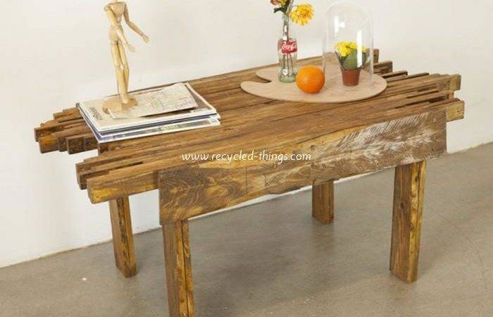 Diy Pallet Coffee Table Plans Recycled Things