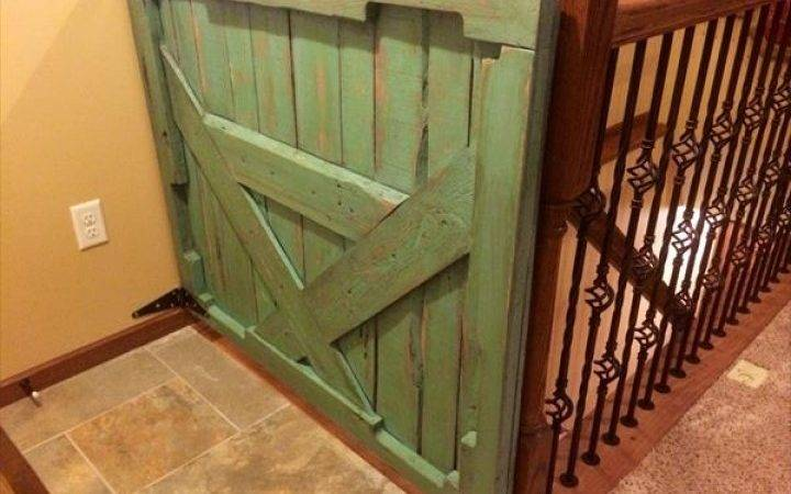 Diy Pallet Gate Stairs Pallets Wooden Baby
