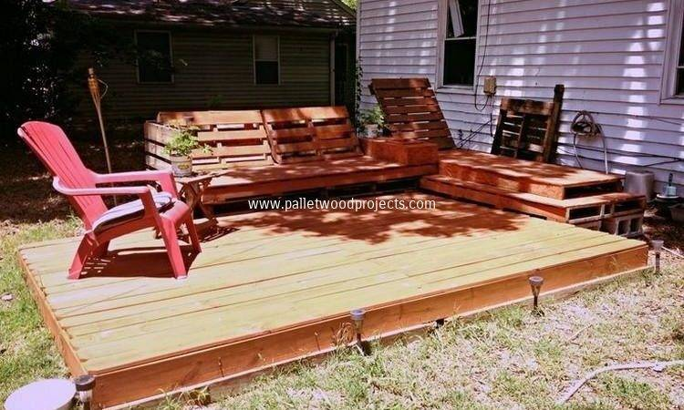 Diy Pallet Patio Decks Furniture Wood Projects