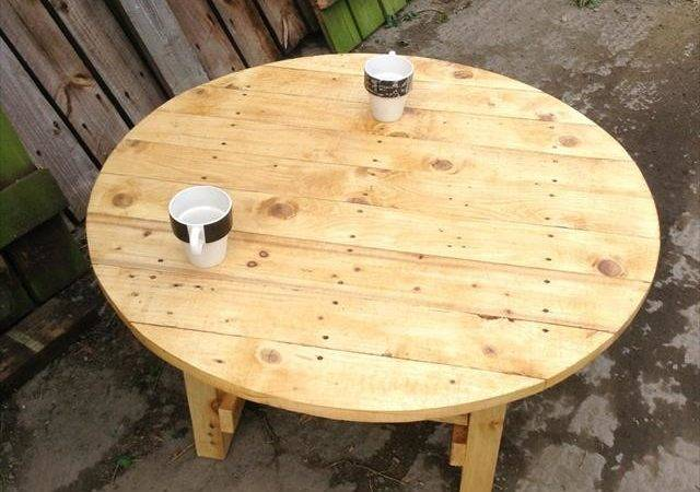 Diy Pallet Round Top Coffee Table Furniture Plans