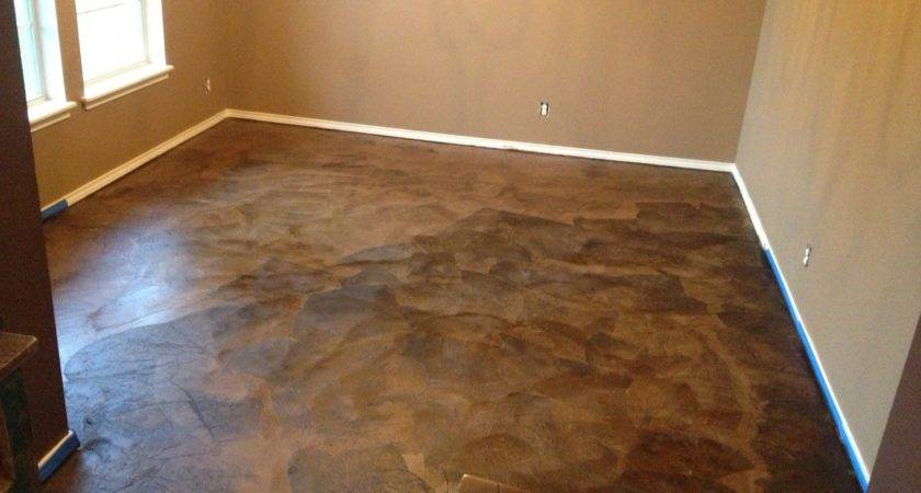 Diy Paper Bag Floors Look Like Stained Concrete