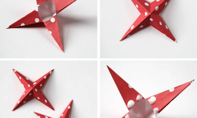 Diy Paper Star Christmas Decorations Gathering Beauty