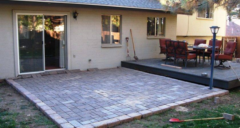 Diy Patio Pavers Ideas Backyard Paver Outdoor